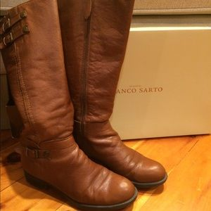 Franco Sarto leather riding boots